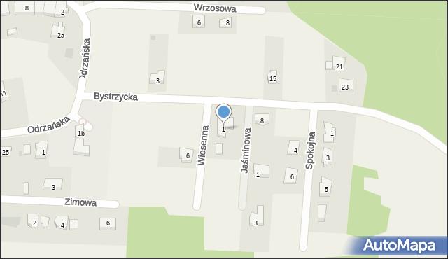 Mrozów, Wiosenna, 1, mapa Mrozów
