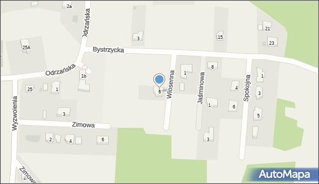 Mrozów, Wiosenna, 6, mapa Mrozów