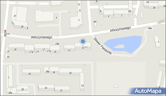 Olsztyn, Wilczyńskiego Tomasza, bp., 11, mapa Olsztyna