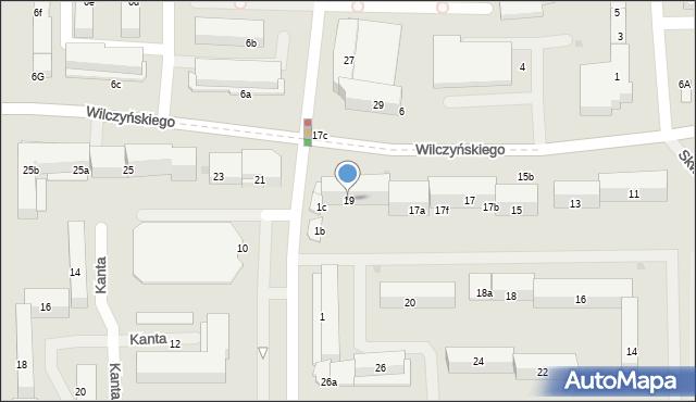 Olsztyn, Wilczyńskiego Tomasza, bp., 19, mapa Olsztyna