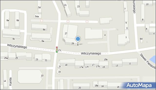 Olsztyn, Wilczyńskiego Tomasza, bp., 6, mapa Olsztyna