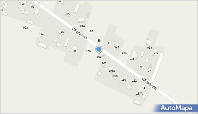 Pokrówka, Wiosenna, 104, mapa Pokrówka