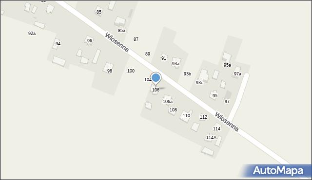 Pokrówka, Wiosenna, 106, mapa Pokrówka