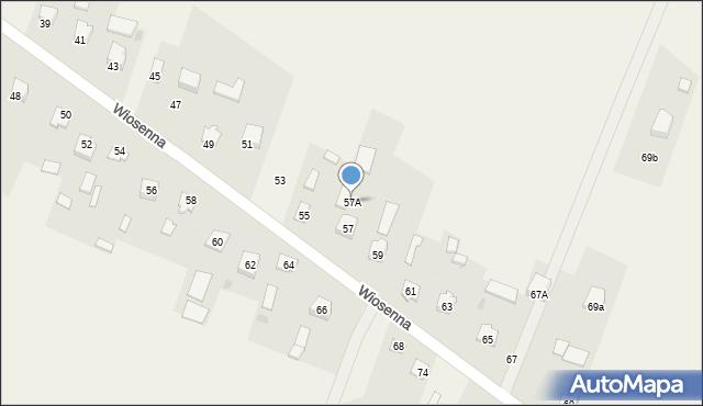 Pokrówka, Wiosenna, 57A, mapa Pokrówka