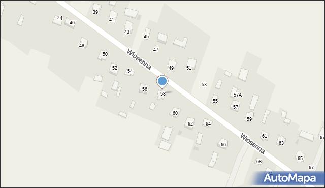 Pokrówka, Wiosenna, 58, mapa Pokrówka