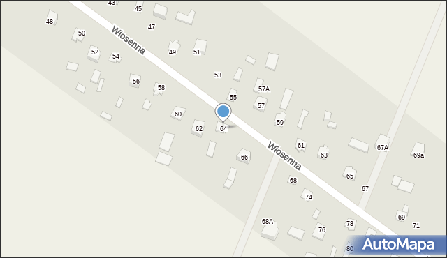 Pokrówka, Wiosenna, 64, mapa Pokrówka