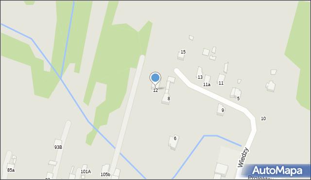 Poręba, Wiedzy, 12, mapa Poręba
