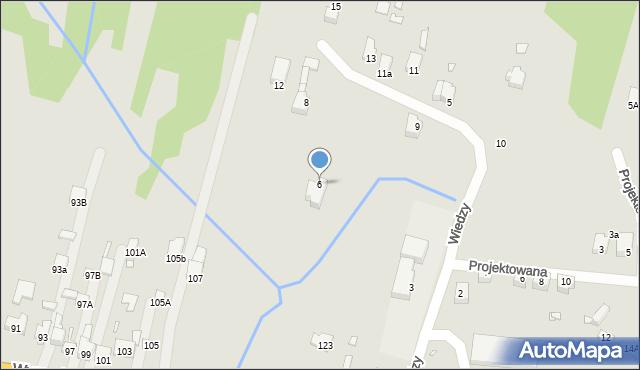 Poręba, Wiedzy, 6, mapa Poręba