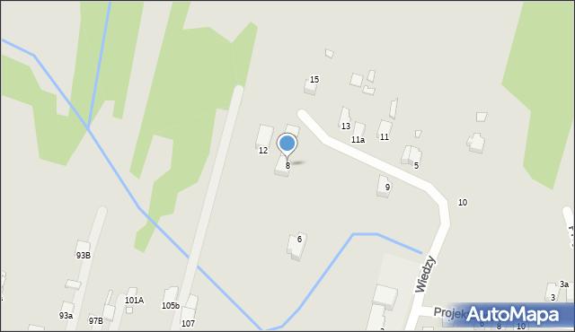 Poręba, Wiedzy, 8, mapa Poręba