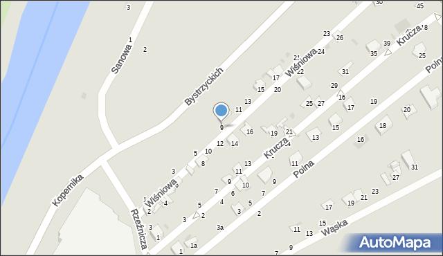 Przemyśl, Wiśniowa, 9, mapa Przemyśla