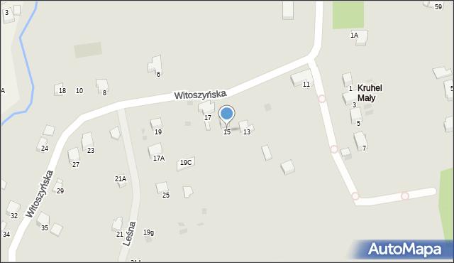 Przemyśl, Witoszyńska, 15, mapa Przemyśla