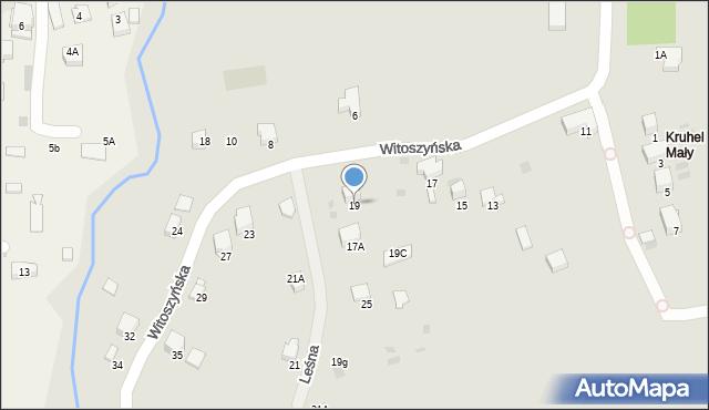 Przemyśl, Witoszyńska, 19, mapa Przemyśla