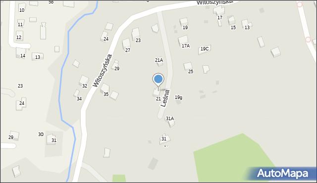Przemyśl, Witoszyńska, 21c, mapa Przemyśla