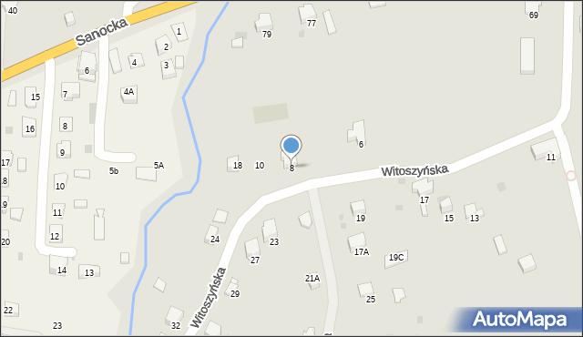Przemyśl, Witoszyńska, 8, mapa Przemyśla