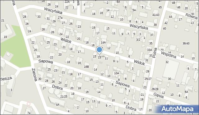 Radom, Widok, 13, mapa Radomia