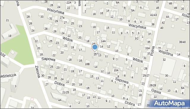 Radom, Widok, 15, mapa Radomia