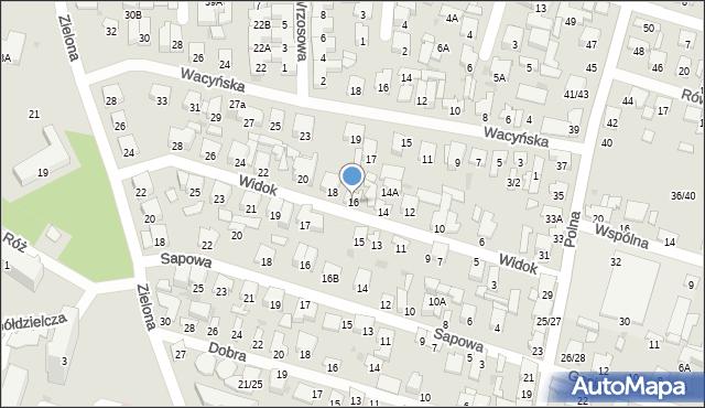 Radom, Widok, 16, mapa Radomia