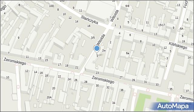 Radom, Witolda, 2, mapa Radomia