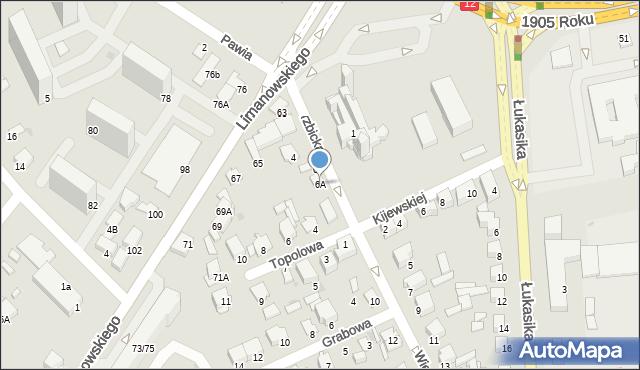 Radom, Wierzbicka, 6A, mapa Radomia