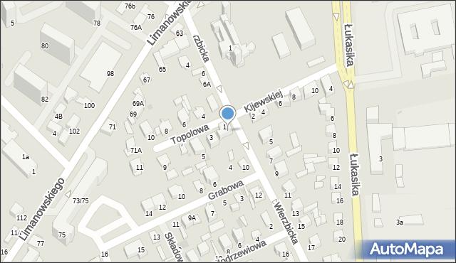 Radom, Wierzbicka, 8, mapa Radomia