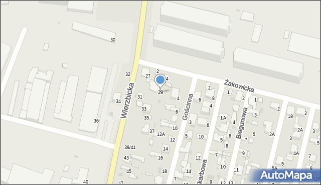 Radom, Wierzbicka, 29, mapa Radomia