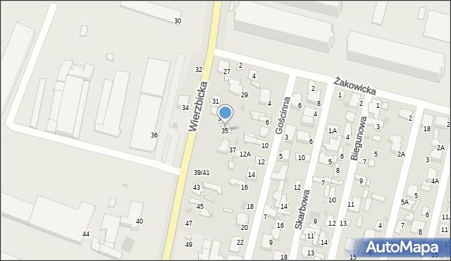 Radom, Wierzbicka, 35, mapa Radomia