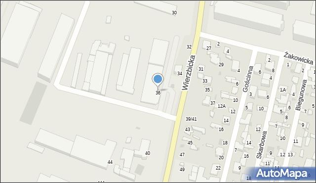 Radom, Wierzbicka, 36, mapa Radomia