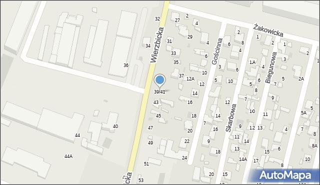 Radom, Wierzbicka, 39/41, mapa Radomia