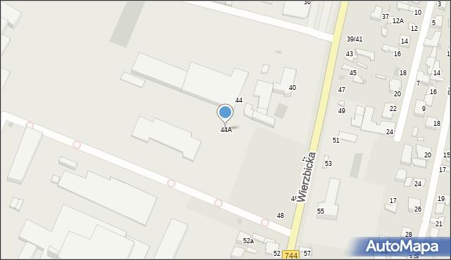 Radom, Wierzbicka, 44A, mapa Radomia