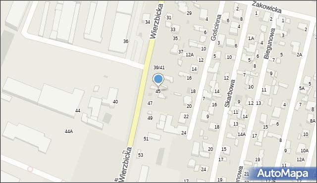 Radom, Wierzbicka, 45, mapa Radomia