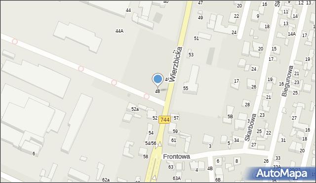 Radom, Wierzbicka, 48, mapa Radomia