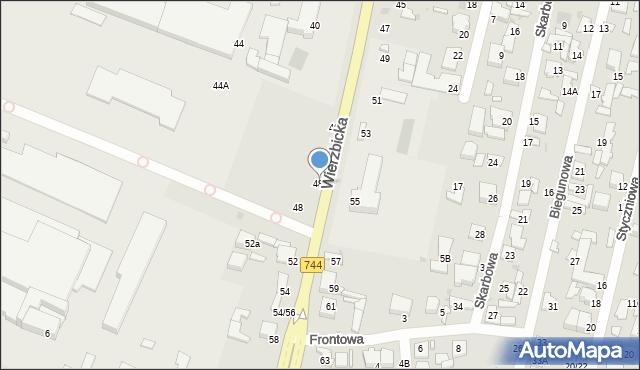 Radom, Wierzbicka, 48A, mapa Radomia