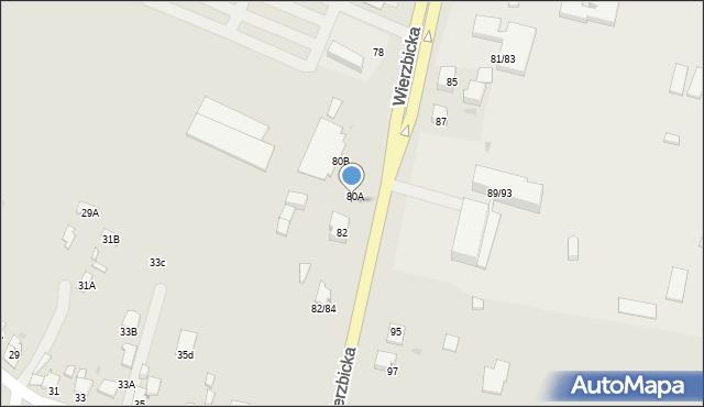 Radom, Wierzbicka, 80C, mapa Radomia