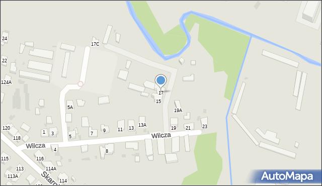 Ruda Śląska, Wilcza, 17, mapa Rudy Śląskiej