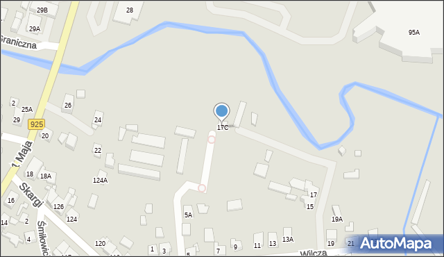 Ruda Śląska, Wilcza, 17C, mapa Rudy Śląskiej