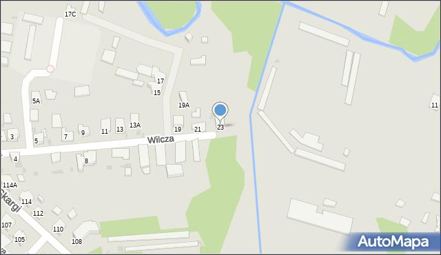 Ruda Śląska, Wilcza, 23, mapa Rudy Śląskiej