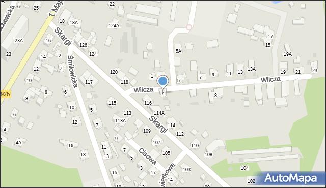 Ruda Śląska, Wilcza, 4, mapa Rudy Śląskiej