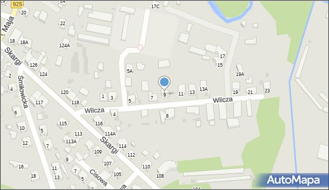 Ruda Śląska, Wilcza, 9, mapa Rudy Śląskiej