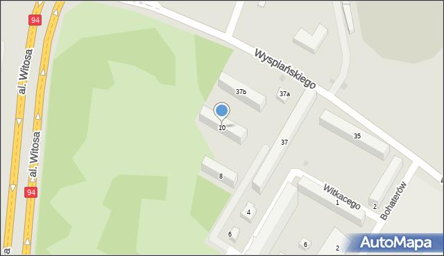 Rzeszów, Witkacego Stanisława, 10, mapa Rzeszów