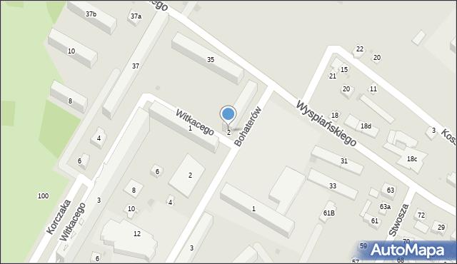 Rzeszów, Witkacego Stanisława, 2, mapa Rzeszów