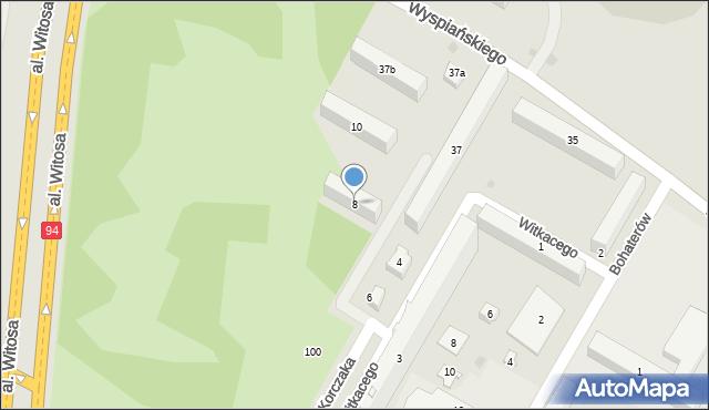 Rzeszów, Witkacego Stanisława, 8, mapa Rzeszów