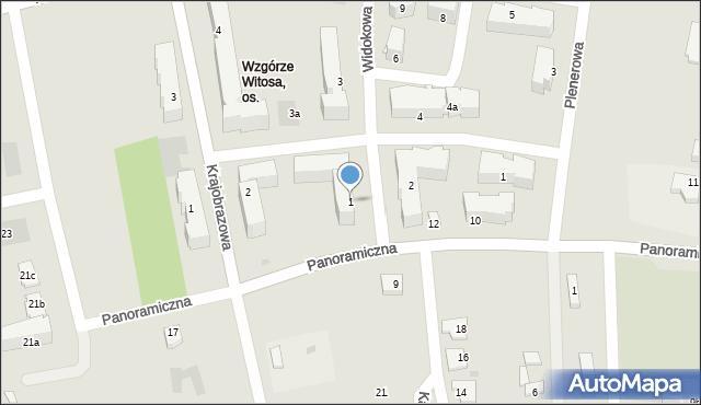 Rzeszów, Widokowa, 1, mapa Rzeszów