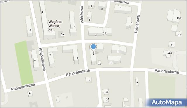 Rzeszów, Widokowa, 2, mapa Rzeszów