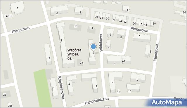 Rzeszów, Widokowa, 3, mapa Rzeszów