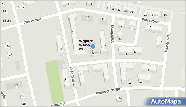 Rzeszów, Widokowa, 3a, mapa Rzeszów