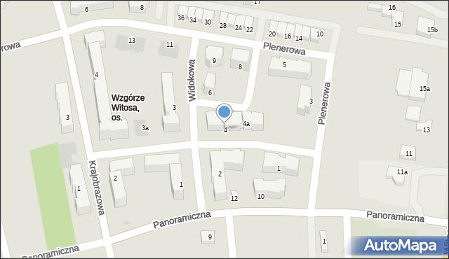 Rzeszów, Widokowa, 4, mapa Rzeszów