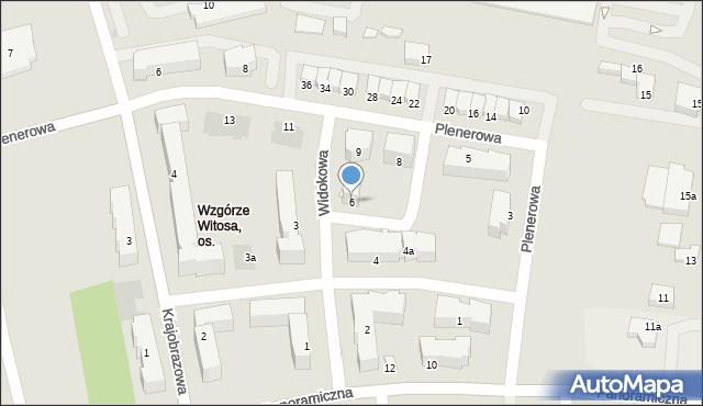 Rzeszów, Widokowa, 6, mapa Rzeszów