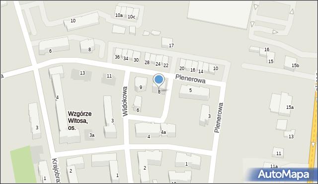 Rzeszów, Widokowa, 8, mapa Rzeszów