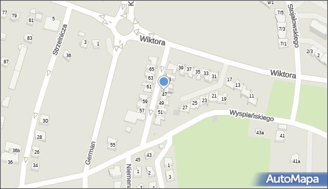 Rzeszów, Wiktora Jana, 47, mapa Rzeszów