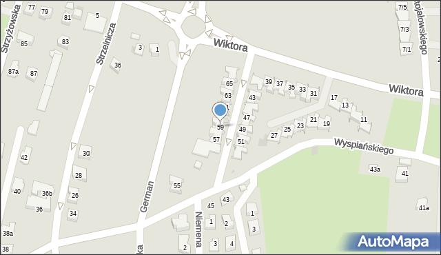 Rzeszów, Wiktora Jana, 59, mapa Rzeszów